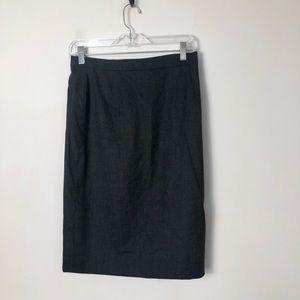 Escada women's new wool blend black skirt